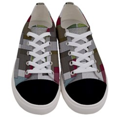 Decor Painting Design Texture Women s Low Top Canvas Sneakers