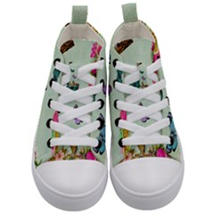 Collage Kid s Mid Top Canvas Sneakers