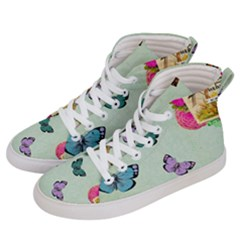 Collage Women s Hi Top Skate Sneakers by 8fugoso