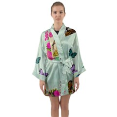 Collage Long Sleeve Kimono Robe by 8fugoso
