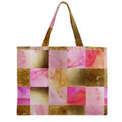 Collage Gold And Pink Medium Tote Bag
