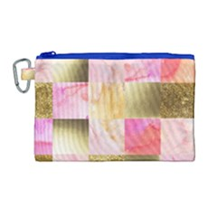 Collage Gold And Pink Canvas Cosmetic Bag (large) by 8fugoso