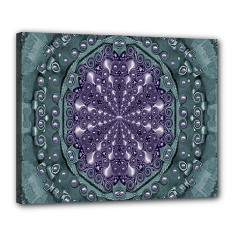 Star And Flower Mandala In Wonderful Colors Canvas 20  X 16  by pepitasart