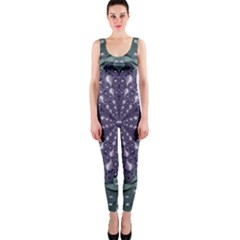 Star And Flower Mandala In Wonderful Colors Onepiece Catsuit by pepitasart