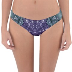 Star And Flower Mandala In Wonderful Colors Reversible Hipster Bikini Bottoms by pepitasart