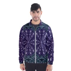 Star And Flower Mandala In Wonderful Colors Wind Breaker (men)