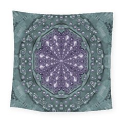 Star And Flower Mandala In Wonderful Colors Square Tapestry (large) by pepitasart