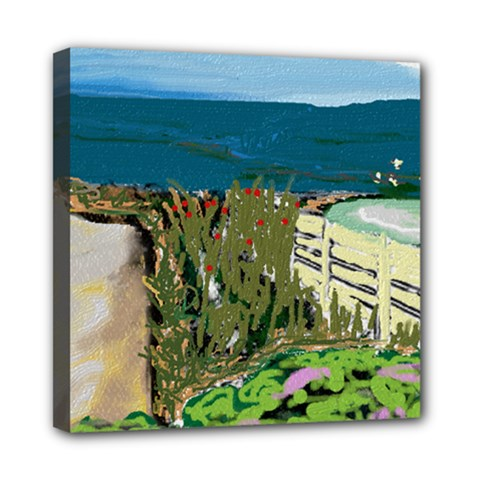 A Day At Safety Beach By Julie Grimshaw 2017 Mini Canvas 8  X 8  (framed) by JULIEGRIMSHAWARTS