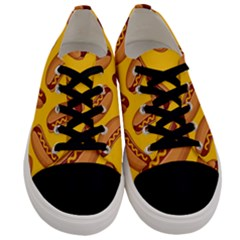 Hot Dog Seamless Pattern Men s Low Top Canvas Sneakers