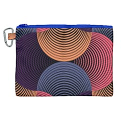 Geometric Swirls Canvas Cosmetic Bag (xl) by Celenk
