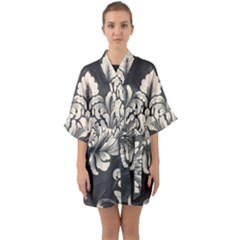 Vintage And Retro Quarter Sleeve Kimono Robe by Celenk