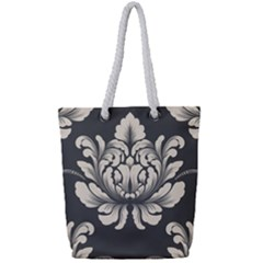 Vintage And Retro Full Print Rope Handle Tote (small)