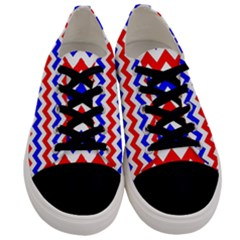 Zig Zag Pattern Men s Low Top Canvas Sneakers
