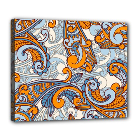 Paisley Pattern Deluxe Canvas 24  X 20   by Celenk