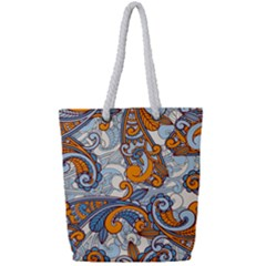 Paisley Pattern Full Print Rope Handle Tote (small)