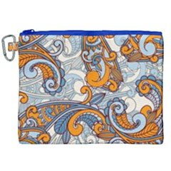 Paisley Pattern Canvas Cosmetic Bag (xxl) by Celenk