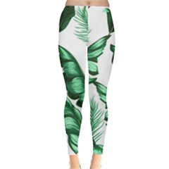 Banana Leaves And Fruit Isolated With Four Pattern Leggings