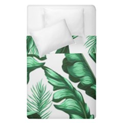 Banana Leaves And Fruit Isolated With Four Pattern Duvet Cover Double Side (single Size)