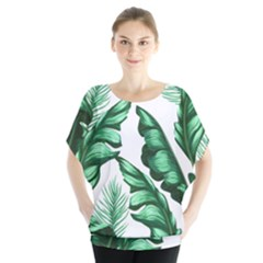 Banana Leaves And Fruit Isolated With Four Pattern Blouse by Celenk