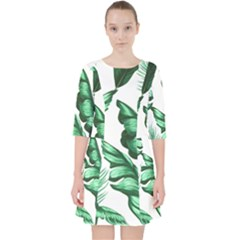 Banana Leaves And Fruit Isolated With Four Pattern Pocket Dress by Celenk