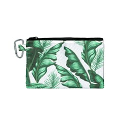 Banana Leaves And Fruit Isolated With Four Pattern Canvas Cosmetic Bag (small) by Celenk