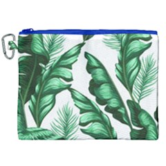 Banana Leaves And Fruit Isolated With Four Pattern Canvas Cosmetic Bag (xxl) by Celenk
