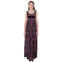 Modern Ornate Pattern Empire Waist Maxi Dress by dflcprints