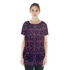 Modern Ornate Pattern Skirt Hem Sports Top by dflcprints