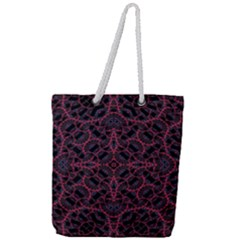 Modern Ornate Pattern Full Print Rope Handle Tote (large) by dflcprints