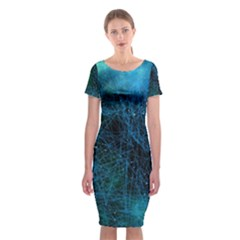 System Network Connection Connected Classic Short Sleeve Midi Dress by Celenk