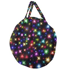 Fireworks Rocket New Year S Day Giant Round Zipper Tote