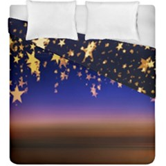 Christmas Background Star Curtain Duvet Cover Double Side (king Size)