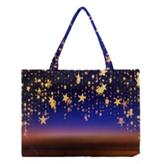 Christmas Background Star Curtain Medium Tote Bag