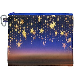 Christmas Background Star Curtain Canvas Cosmetic Bag (xxxl) by Celenk