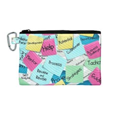 Stickies Post It List Business Canvas Cosmetic Bag (medium)
