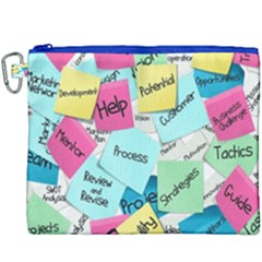 Stickies Post It List Business Canvas Cosmetic Bag (xxxl)