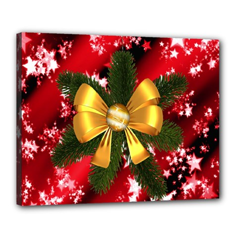 Christmas Star Winter Celebration Canvas 20  X 16  by Celenk