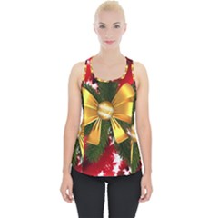 Christmas Star Winter Celebration Piece Up Tank Top