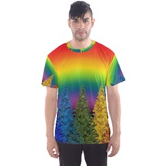 Christmas Colorful Rainbow Colors Men s Sports Mesh Tee