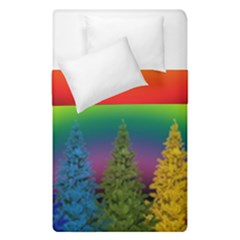 Christmas Colorful Rainbow Colors Duvet Cover Double Side (single Size)