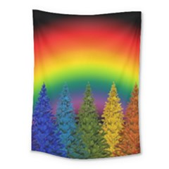Christmas Colorful Rainbow Colors Medium Tapestry by Celenk
