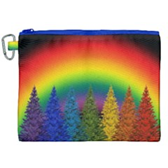 Christmas Colorful Rainbow Colors Canvas Cosmetic Bag (xxl) by Celenk