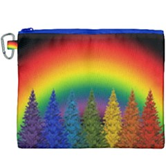 Christmas Colorful Rainbow Colors Canvas Cosmetic Bag (xxxl) by Celenk