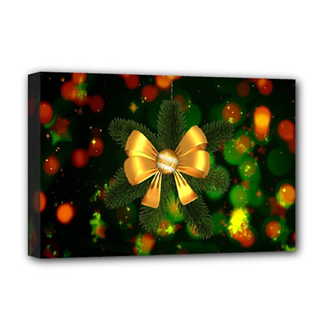 Christmas Celebration Tannenzweig Deluxe Canvas 18  X 12   by Celenk