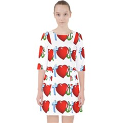 Cross Heart Anchor Love Hope Pocket Dress by Celenk