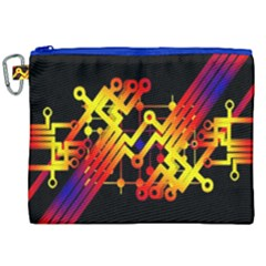 Board Conductors Circuits Canvas Cosmetic Bag (xxl) by Celenk