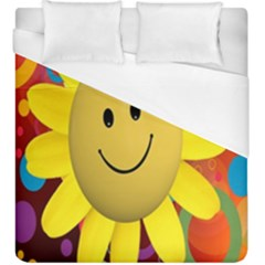 Sun Laugh Rays Luck Happy Duvet Cover (king Size)