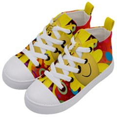 Sun Laugh Rays Luck Happy Kid s Mid-top Canvas Sneakers by Celenk