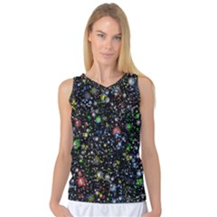 Universe Star Planet All Colorful Women s Basketball Tank Top