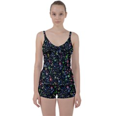 Universe Star Planet All Colorful Tie Front Two Piece Tankini
